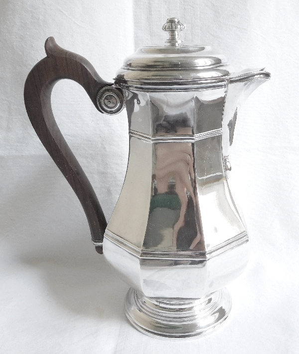 Sterling silver Louis XIV style coffee pot, silversmith Puiforcat