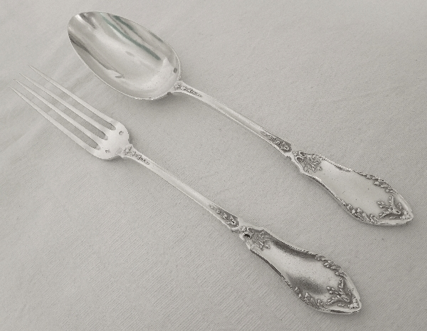 Sterling silver cutlery set for a child, silversmith Victor Boivin