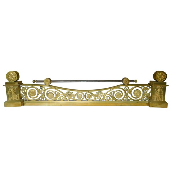 Empire ormolu mantel bar, mercury gilt bronze (ormolu), early 19th century