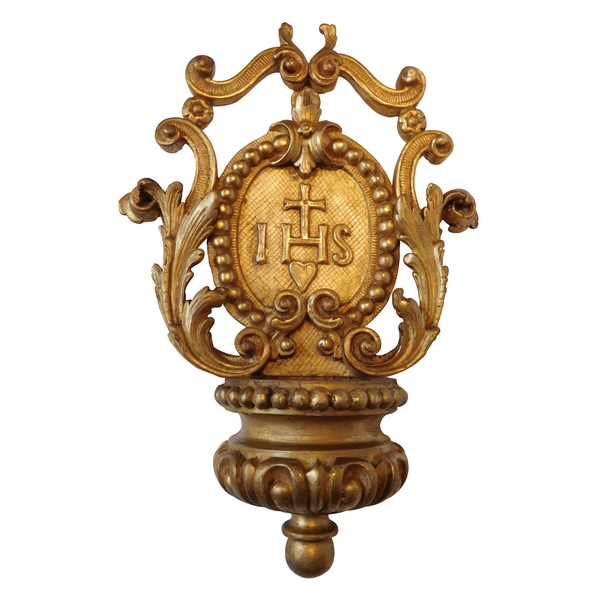 Gilt wood stoup, Regency period, early 18th century