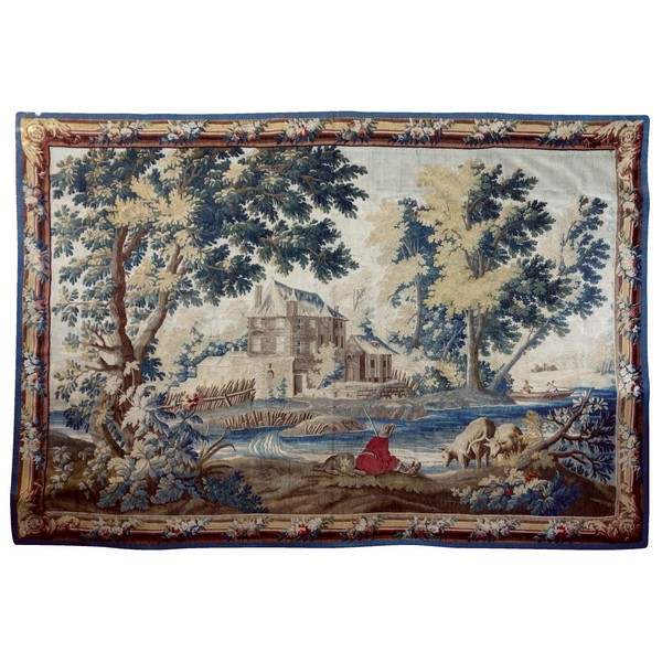 Large Louis XVI Aubusson tapestry after Boucher & Dumons - 256cm x 358cm