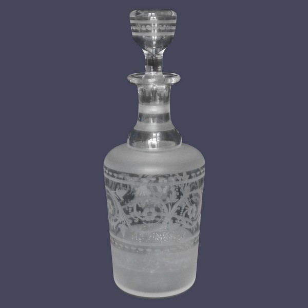 Louis XVI style crystal liquor decanter, 19th century circa 1870