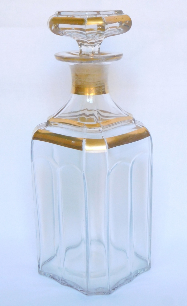 Baccarat crystal liquor decanter / whisky bottle - signed
