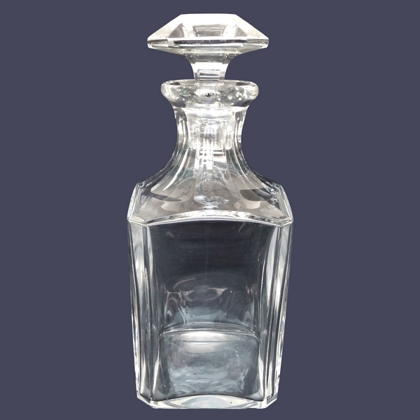 Baccarat crystal whisky decanter, Perfection pattern - signed