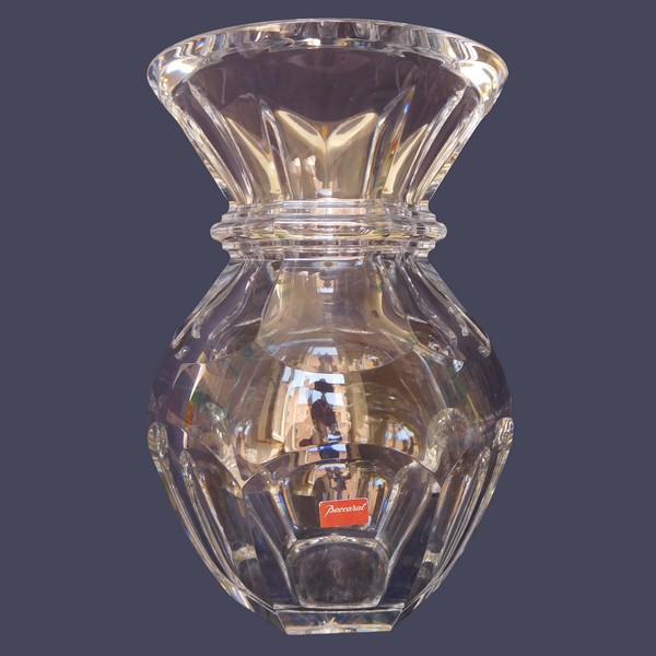 Baccarat crystal vase, Harcourt pattern, signed, new - 22cm