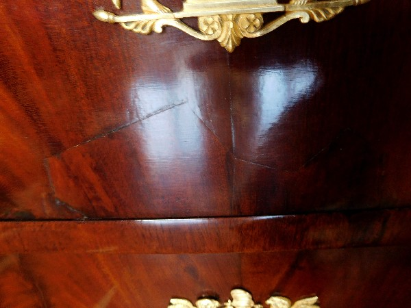 French Empire mahogany and ormolu chest of drawers / commode