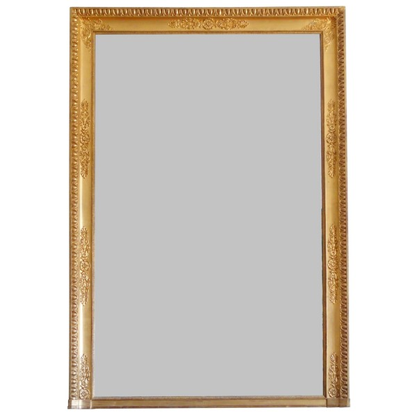 Tall Empire mantel mirror, gilt wood frame, mercury glass - 123.5cm x 183cm