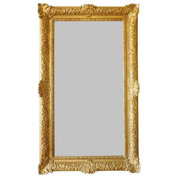 Louis XIV - Regence style gilt wood mirror, mercury glass - 160cm x 96cm