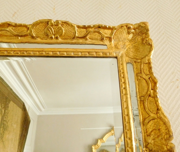 Louis XIV / Regency gilt wood mirror, early 18th century 48cm x 56cm