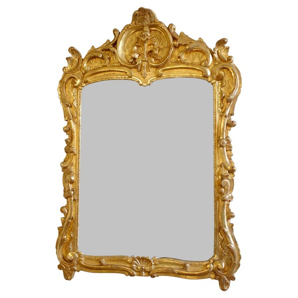 Louis XV gilt wood mirror, South of France, 18th century circa 1760 - 103cm x 73cm