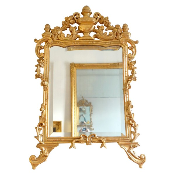 Louis XV gilt wood mirror, South of France, 18th century circa 1770 - 96cm x 60cm