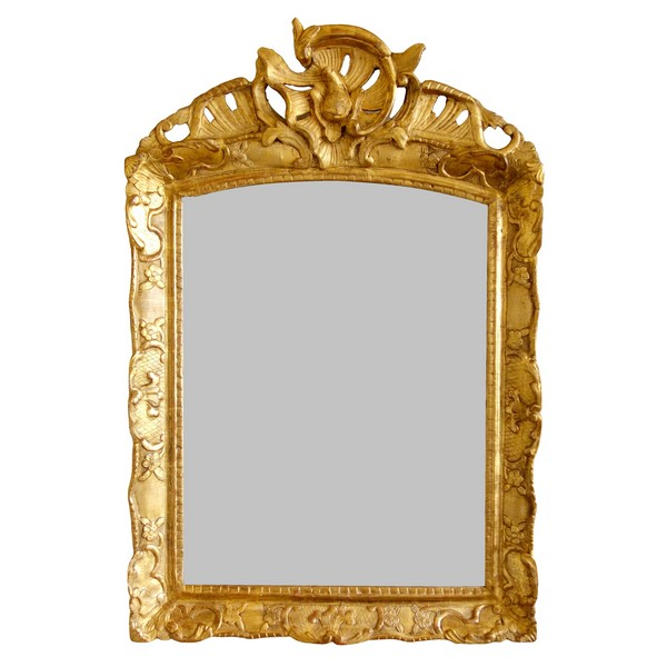 Louis XIV / Regency mirror, gilt wood frame, early 18th century - 95cm x 63.5cm