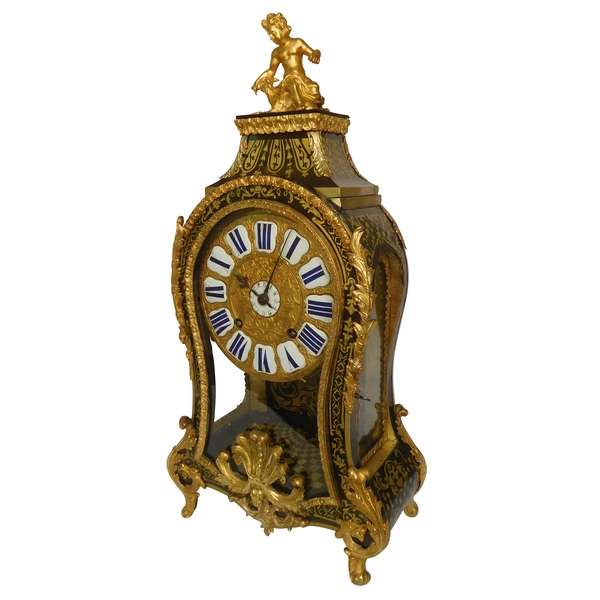 Regence marquetry cartel clock, Le Doux - Paris, early 18th century circa 1730