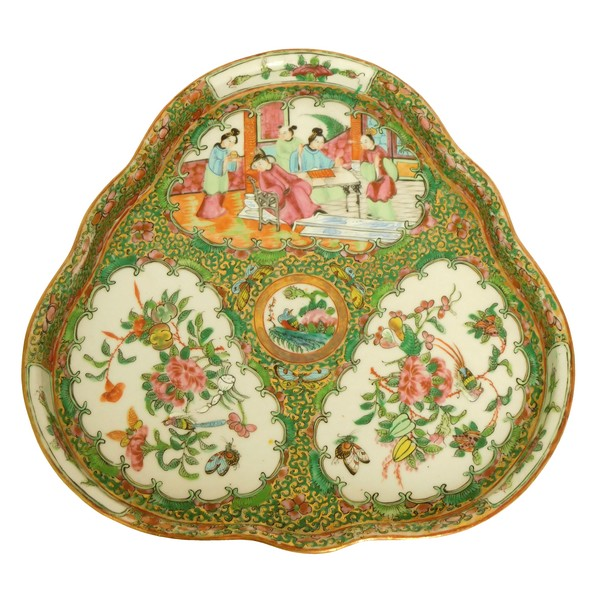 Canton porcelain tray, China, 19th century