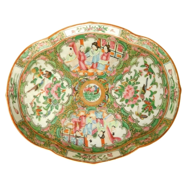 Canton porcelain tray - China, 19th century