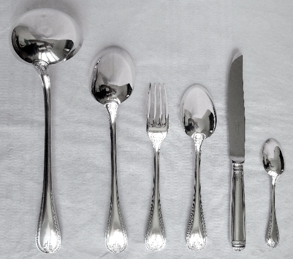 Christofle : silver plated table fork, Malmaison pattern