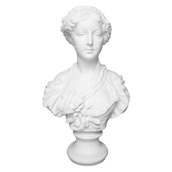 Paul L. Houry : young lady porcelain biscuit bust after Greuze, Louis XVI style