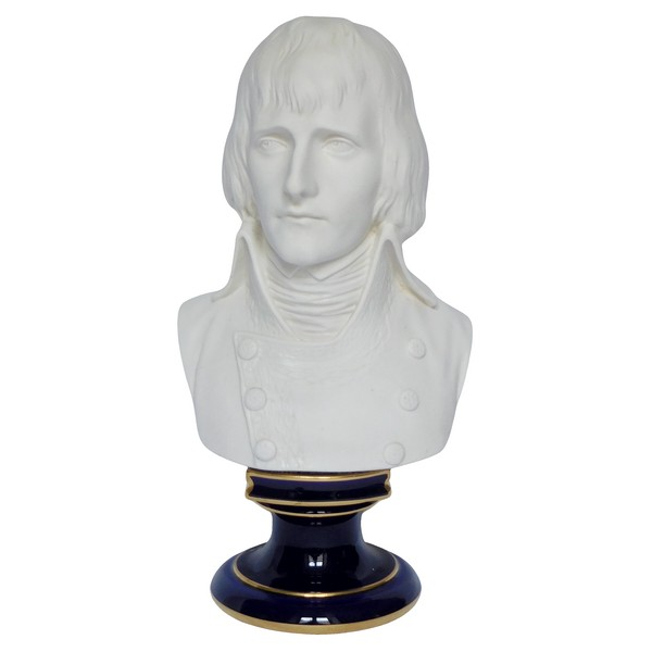 Sèvres porcelain biscuit bust of General Bonaparte - signed