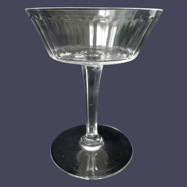Baccarat crystal champagne glass, Chicago pattern
