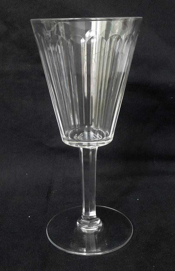 Baccarat crystal water glass, Chicago pattern - 17,5cm