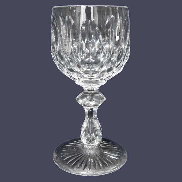 Baccarat crystal hock glass, GG pattern