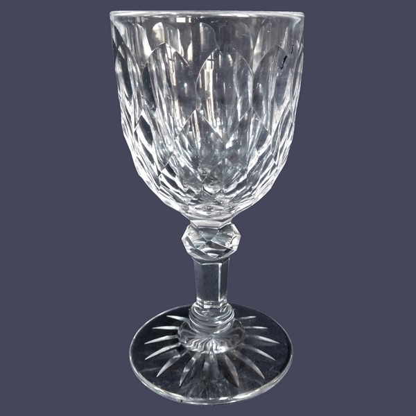 Baccarat crystal water glass, Juvisy pattern - 16,3cm