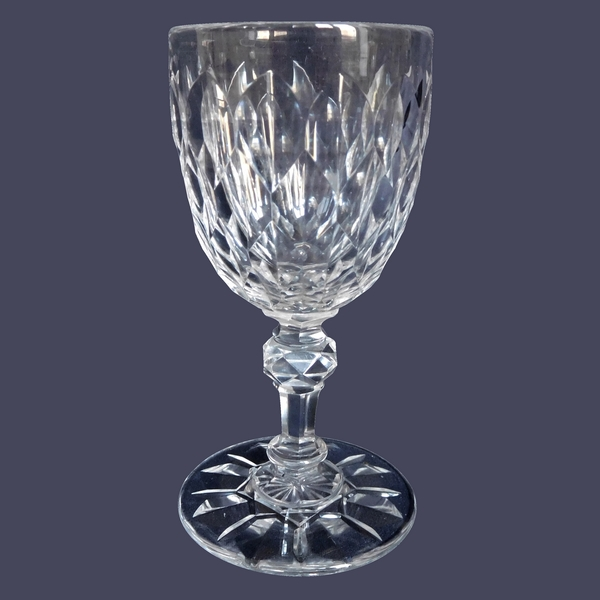 Baccarat crystal port / wine glass, Nimes pattern (Juvisy variant)