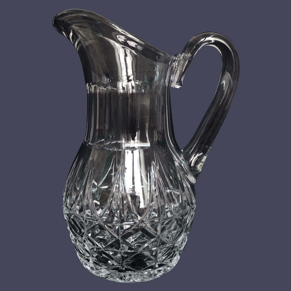 St Louis crystal pitcher, Tarn pattern