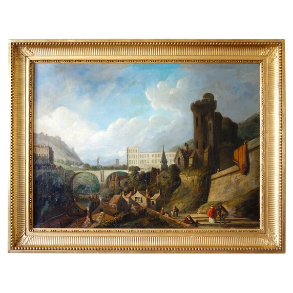 19th century French school, large painting signed Joseph (Paul Martin) - 91cm x 124cm