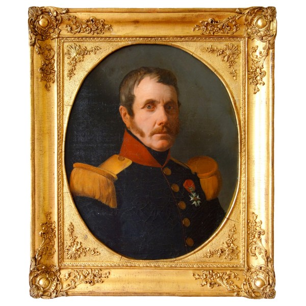 19th century French school, portrait of an officer circa 1830