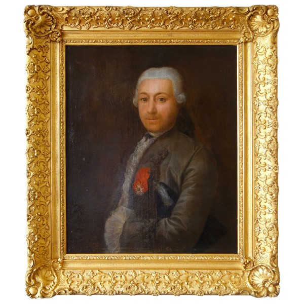 18th century French school : portrait of an aristrocrat, Louis XV period