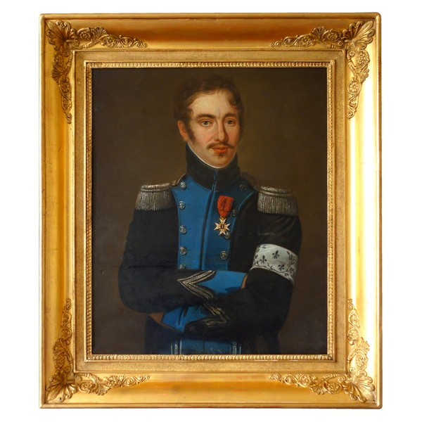 Tall portrait of a royalist officer during Empire period - early 19th century
