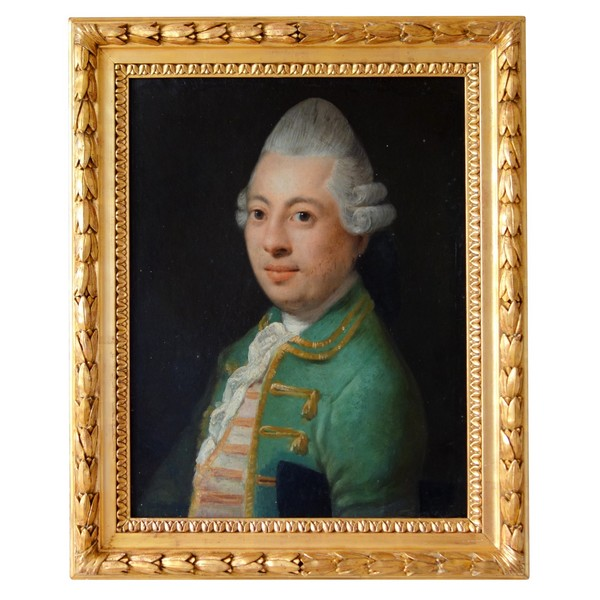18th century French school, portrait of a gentleman, oil on canvas, Louis XV period