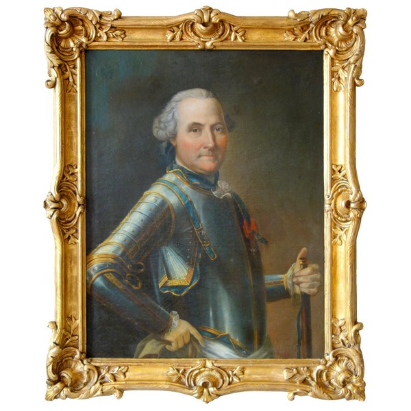 Louis XV portrait of a French aristocrat, General Officer and knight of St Louis