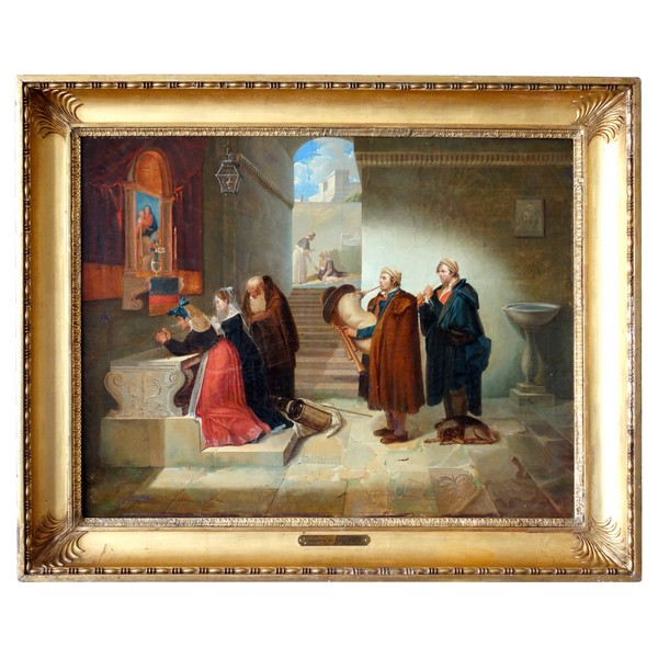 19th century French School attributed to Hortense Haudebourt Lescot - Prayer - 1814